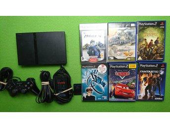 Playstation 2 konsol paket med 6 spel Minneskort PS2 basenhet playstation - Västerhaninge - Playstation 2 konsol paket med 6 spel Minneskort PS2 basenhet playstation - Västerhaninge