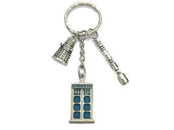 Nyckelring Tardis Dalek Sonic Screwdriver - Doctor Who