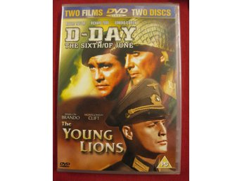 D-DAY THE SIXTH OF JUNE + THE YOUNG LIONS - NY DUBBEL DVD - OBS EJ SVENSK TEXT