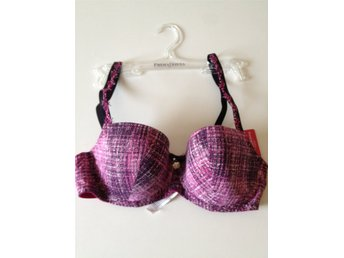 Ny, BH, Pink tweed, Bygel, Vadderad, 65 E, Prima Donna twist