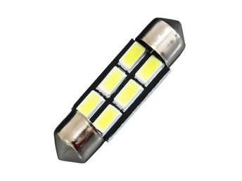 2XDA36 36mm Festoon 6 SMD5630 Car LED Lampor white 6000K AUTO Licence  Lamps