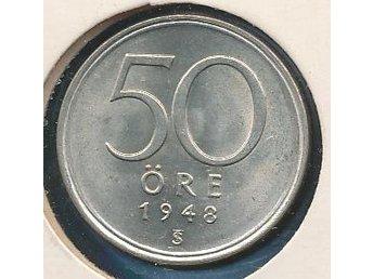 1948 50 öre Gustaf V se bild - Västra Frölunda - 1948 50 öre Gustaf V se bild - Västra Frölunda