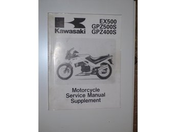 Verkstadshandbok Kawasaki supplement Ex500 / GPZ500S / GPZ400S