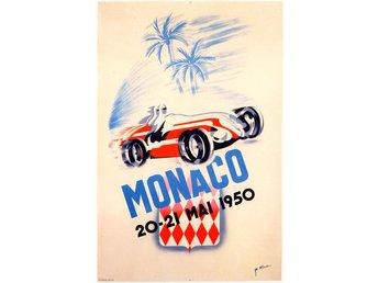 MONACO GRAND PRIX 1950 & 1952 EXTREM ART DÉCO Motorsport race 2 x A2 posters - Helsingborg - MONACO GRAND PRIX 1950 & 1952 EXTREM ART DÉCO Motorsport race 2 x A2 posters - Helsingborg