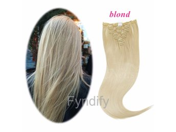 Löshår 66cm Clip in Hair Blond