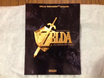 ZELDA Ocarina of Time GUIDE på SVENSKA **Officiell Nintendo 64 Spelguide** NY