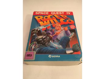 Space Quest IV (4) - till Commodore Amiga - stor kartong - av Sierra On-Line