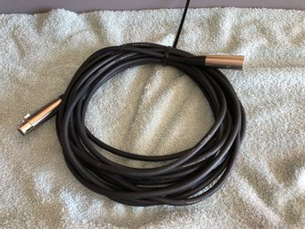 Noiseless microphone Cable 7,5 m, mic kabel, mikrofon
