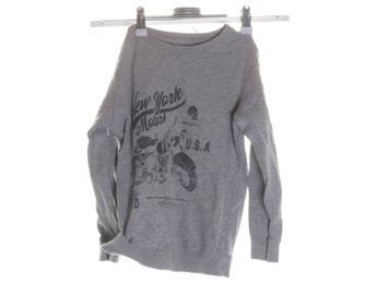 new york motors, Sweatshirt, Strl: 122/128, Grå