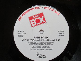 "Beat Box promo 12"" maxi: RARE BAND - WHY WHY (Swedish remix)"