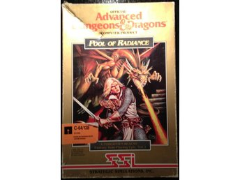 Advanced Dungeon and dragons - Pool of radiance  *** FRI FRAKT ***