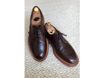 "Sanders ""Reggie"" strl UK 7.5 - randsydda bruna gibson / derby shoes i toppskick! - Bromma - Sanders ""Reggie"" strl UK 7.5 - randsydda bruna gibson / derby shoes i toppskick! - Bromma"