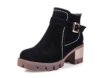 Dam Boots High Quality Buckle Style Martin Botas Black 40