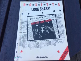 ROXETTE-LOOK SHARP-PIANO VOCAL GUITAR NOTBOK-PRINTED IN USA-1989
