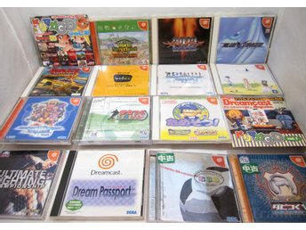 16 japanska dreamcast playstation spel DC