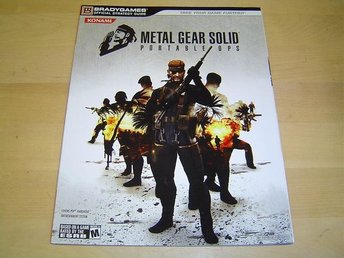 METAL GEAR SOLID PORTABLE OPS GUIDE SONY PSP *NYTT*