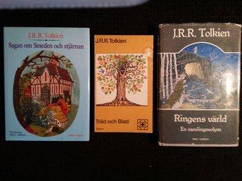 3x J. R. R. TOLKIEN: Sagan om Smeden och Stjärnan, Träd och blad & Ringens värld - Mariestad - 3x J. R. R. TOLKIEN: Sagan om Smeden och Stjärnan, Träd och blad & Ringens värld - Mariestad