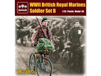 WWII Soldier Royal Marines + 1st cykel