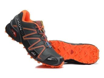 Salomon, stl 43 dark grey with orange for man NYA