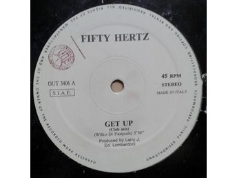 "Fifty Hertz title* Get Up* Italo House 12"" Italy"
