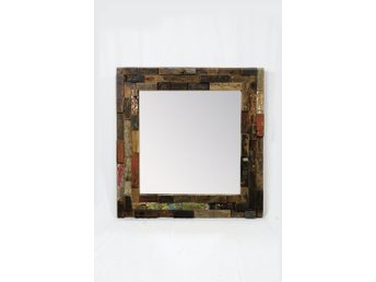 Antik Authentic Reclaimed wood mirror / Autentisk Reclaimed wood spegel