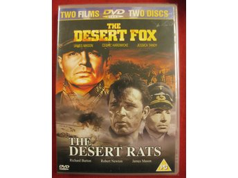 THE DESERT FOX + THE DESERT RATS - NY DUBBEL DVD - OBS EJ SVENSK TEXT