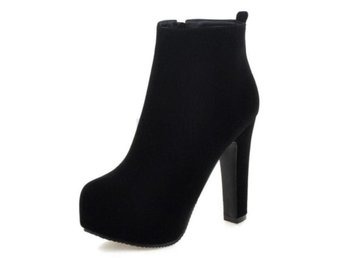 Dam Boots Brand Suede Leather Botas Feminina Black 40
