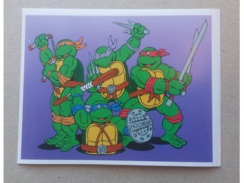 Teenage Mutant Ninja Turtles klistermärke. Nostalgi. Retro 80-tal.