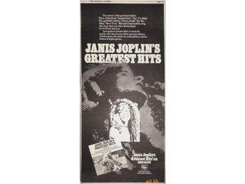 JANIS JOPLIN - CBS GREATEST HITS, TIDNINGSANNONS 1973 - öckerö - JANIS JOPLIN - CBS GREATEST HITS, TIDNINGSANNONS 1973 - öckerö