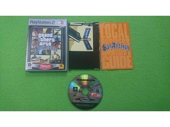 GTA San Andreas Grand Theft Auto KOMPLETT MED KARTAN PS2 Playstation 2 - Hägersten - GTA San Andreas Grand Theft Auto KOMPLETT MED KARTAN PS2 Playstation 2 - Hägersten