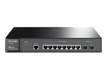 TP-Link JetStream switch, 8xRJ45, Gigabit, 2xSFP portar, 1U, svart