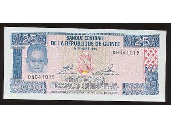 Guinea 25 Francs 1985 se bild - Västra Frölunda - Guinea 25 Francs 1985 se bild - Västra Frölunda