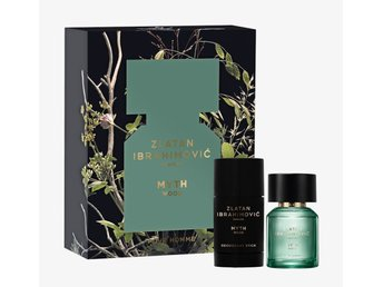 Zlatan parfums Myth Wood EdT Xmas Box 50 ml + Deostick 75gr Nytt