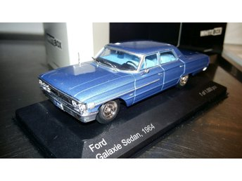 Ford Galaxie Sedan 1964, blå limited 1:43, MINT!