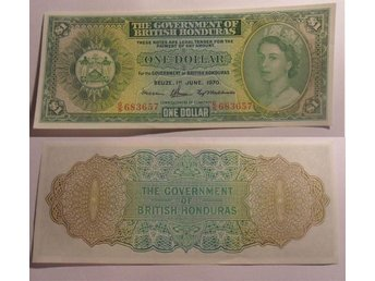 British Honduras: P 28c Government of British Honduras 1970 1 Dollar