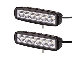 2st 18W LED Extraljus/Backljus/Arbetsbelysning Flood 1150LM