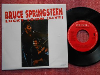 "7"" Bruce Springsteen - Lucky Town x 2 PS NL"