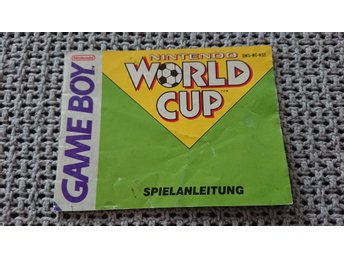 Manual – World Cup till GB Game Boy