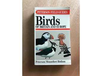 BIRDS of Britain and Europe Peterson Field Guide Fågelskådning ENG text