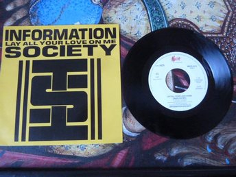 INFORMATION SOCIETY, LAY ALL YOUR LOVE ON ME, MINI LP, LP-SKIVA