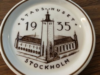 1955 Minnesfat Stadshuset The Ceramic Society Gustavsberg