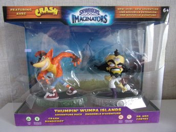Skylanders imaginators Crash bandicoot neo cprtex + Thumpin wumpa islands