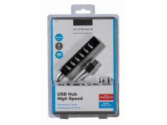 VIVANCO High Speed USB 2.0 HUB, 7-Ports