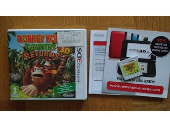 Nintendo 3DS: Donkey Kong Country Returns 3D (svenskt/SWF)