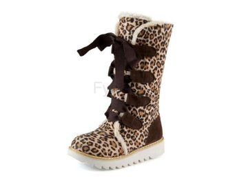 Dam Boots Boot Warm Winter Female Footwears Leopard 40