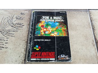 Joe & Mac Caveman Ninja Super Nintendo SNES Manual SCN