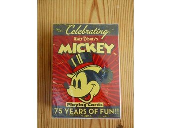 Disney kortlek Mickey Mouse Celebrating 75 Years oöppnad förseglad förpackning