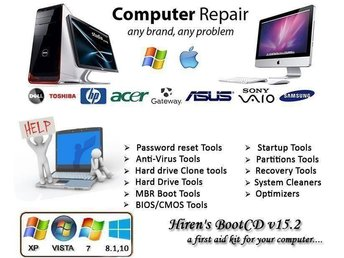 Computer Repair Tools USB-stick Edition 8GB Bootable