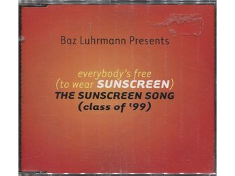 Baz Luhrmann - Everybody's Free (To Wear Sunscreen) - 1999 - CD Maxi