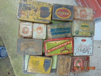 OLD COLLECTORS METAL BOXES FOR TOBACCO